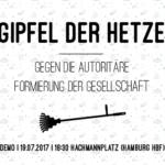 Demo: 19.07.17, 18:30, Hachmannplatz - Gipfel der Hetze